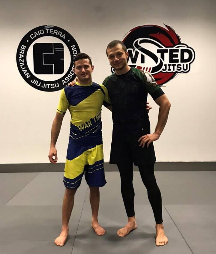 Caio Terra - 12-кратен световен шампион и Георги Ненов - бял колан - еднократен носител на страйп!